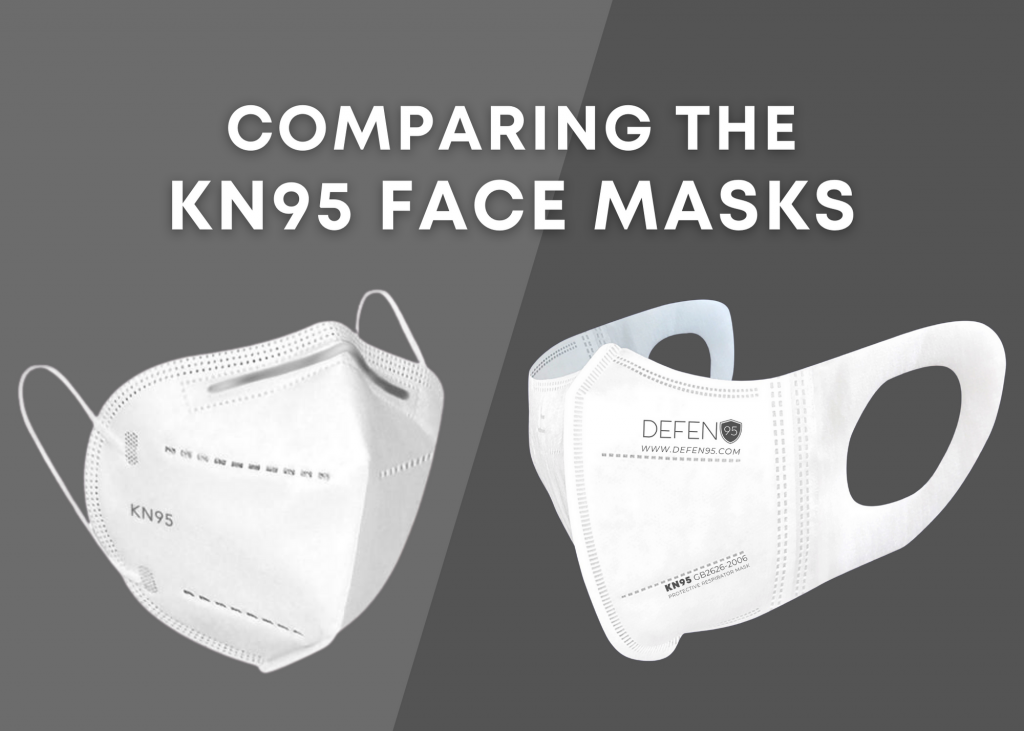 different types of KN95 face masks