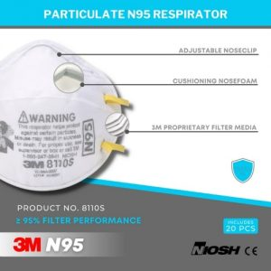 3M N95 Face Mask 8110S